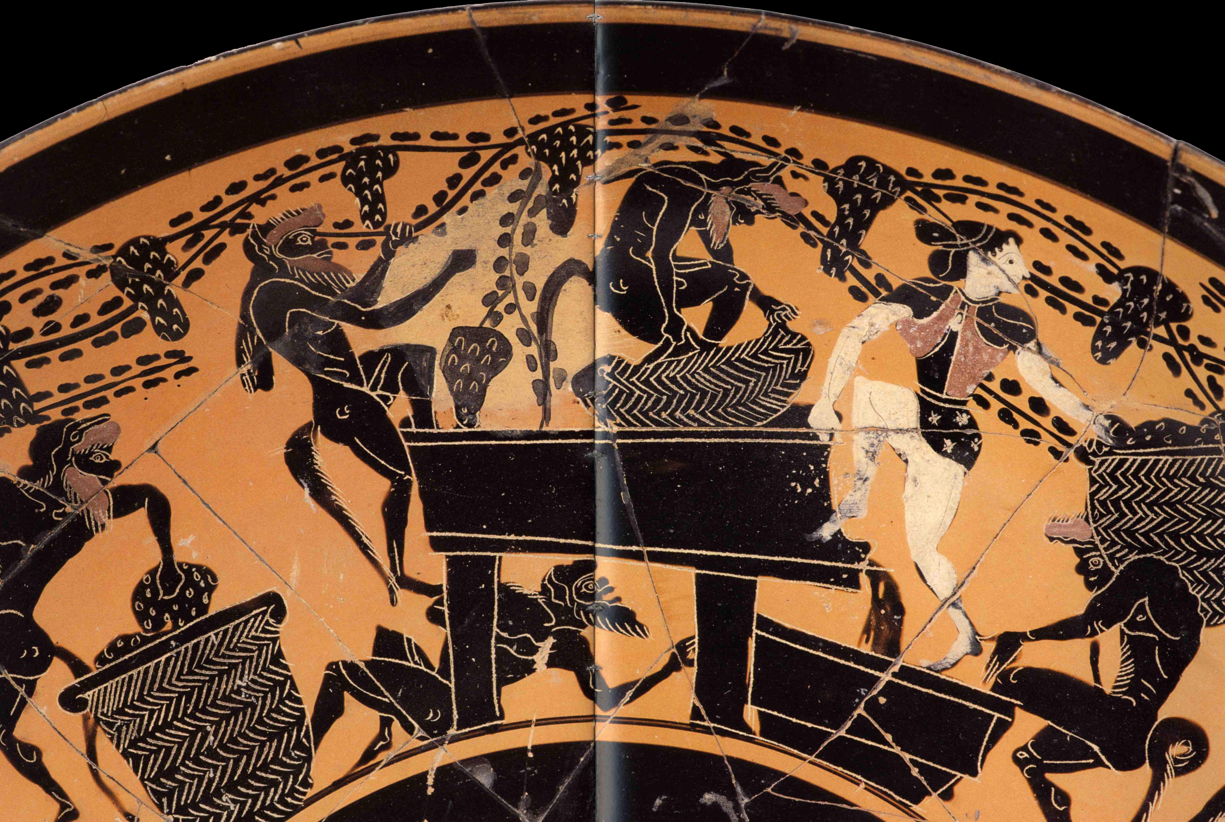 древнегреческие рисунки на стенах пример касающийся