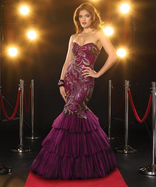 Фото модели вечерние платье из