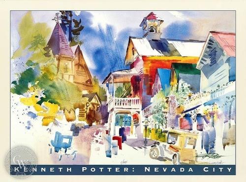 Акварельная Калифорния Kenneth Potter (152 работ)