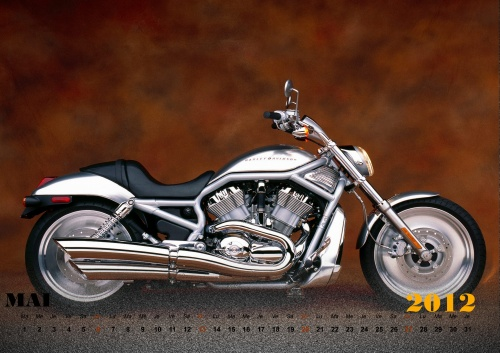 Calendar Harley-Davidson 2012 (14 фото)