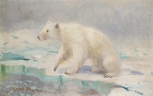 Художник-анималист Mosse Stoopendaal (Swedish, 1901-1948) (52 работ)