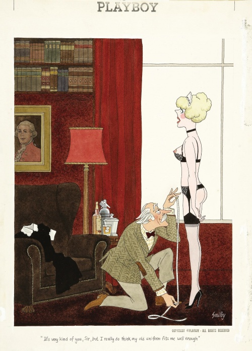 Smilby( Francis Wilford-Smith). Playboy cartoon illustrations (43 фото)