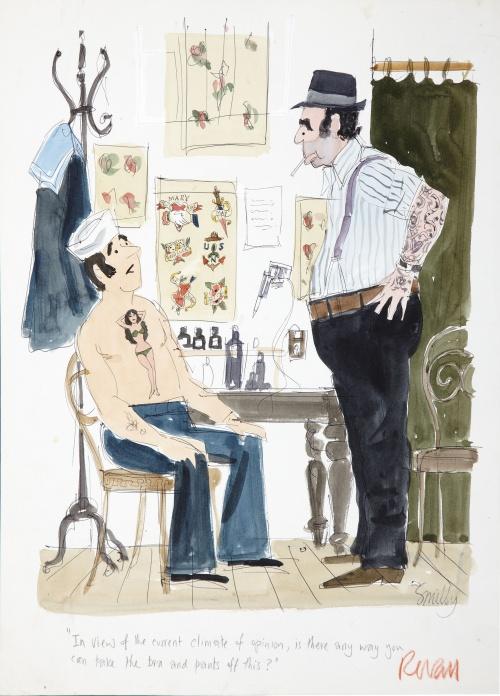 Smilby( Francis Wilford-Smith). Playboy cartoon illustrations (43 фото)