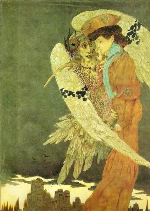 Символист Gustave Adolphe Mossa (80 работ)
