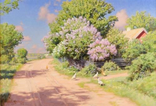 Работы шведского художника Johan Krouthen (1858–1932) (80 работ)