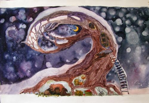 Иллюстратор Киптелая Лена (45 работ)