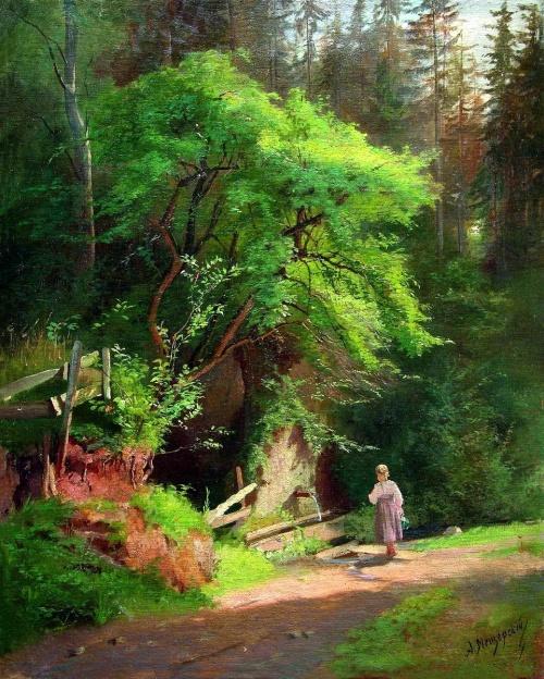 Подборка репродукций картин русских художников-пейзажистов (75 работ) (2 часть)