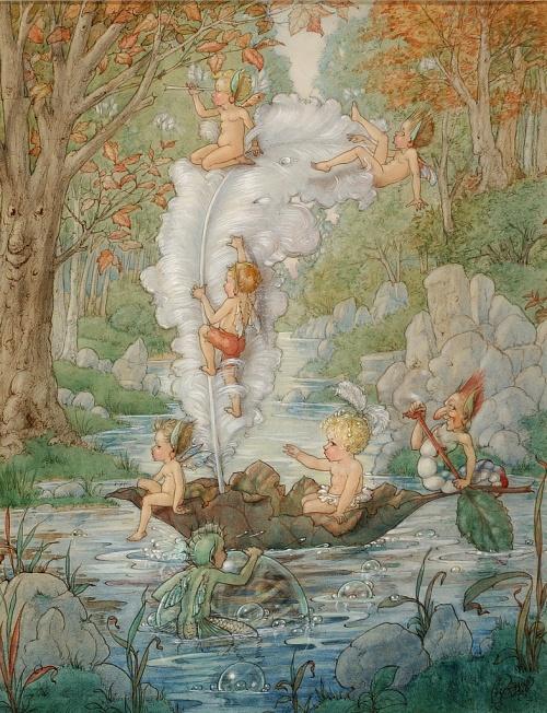 Сказочные иллюстрации Harold Gaze (1885-1962) (55 работ)