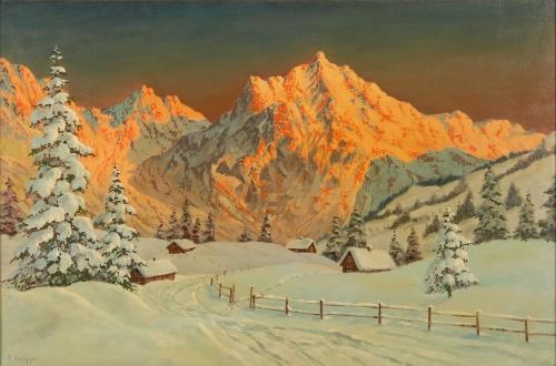 Пейзажи Alois Arnegger (1879– 1963) (100 работ)