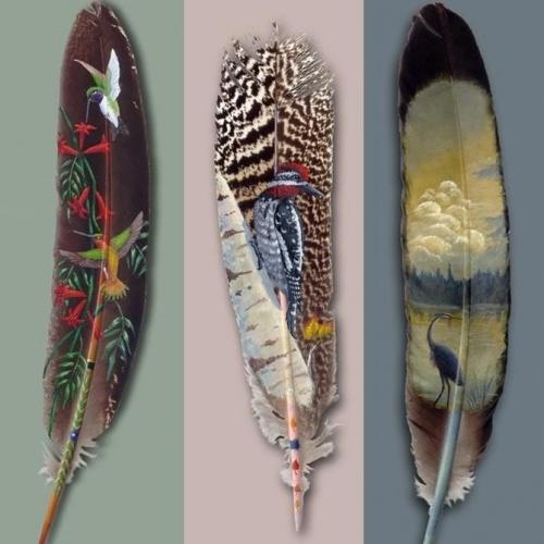 Картины на перьях (9 работ)