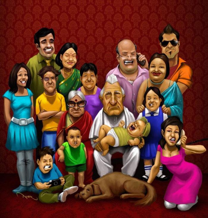 Прикольная картинка на тему родственники