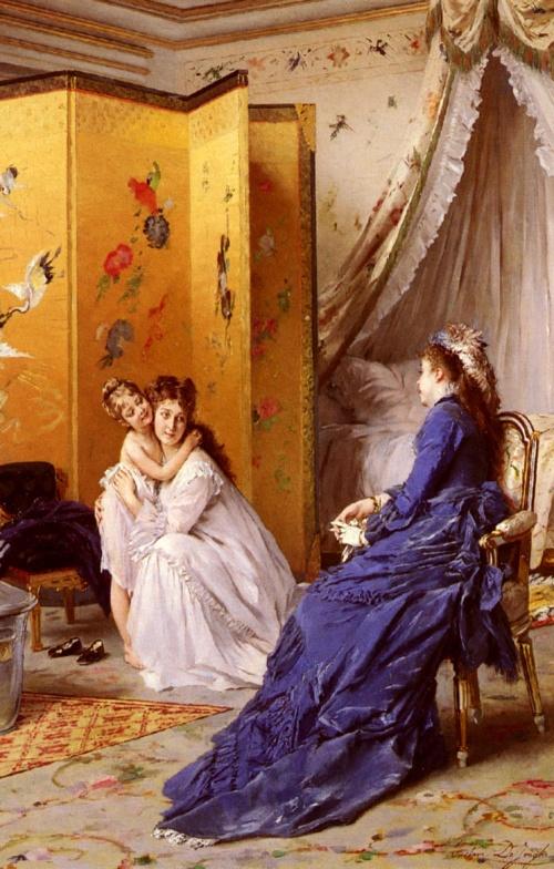 Бельгийский живописец Gustave Leonard de Jonghe (1829-1893) (51 работ)