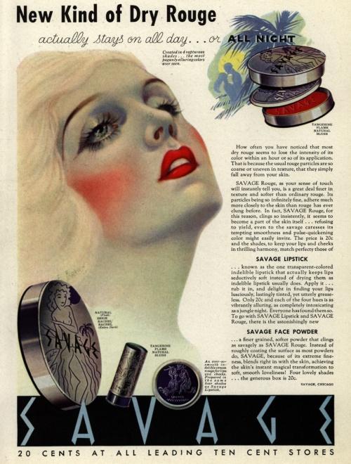 Реклама косметики. 1930-е (111 фото)