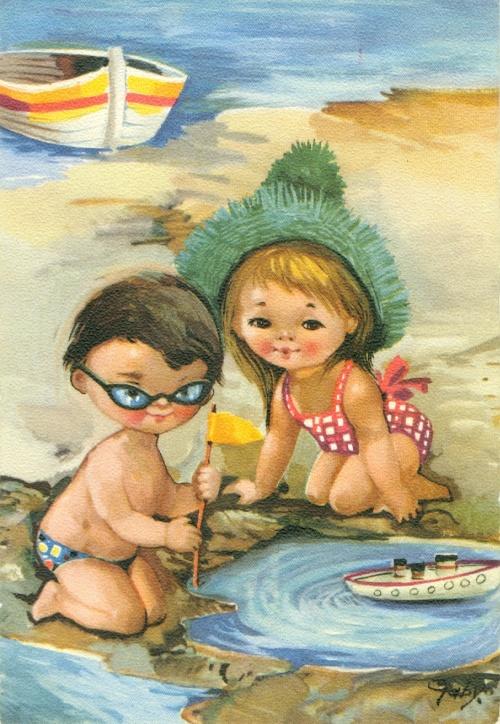 Открытки рисованные с детьми