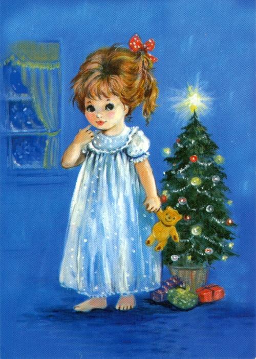 Рисованные открытки с детьми часть 2 (53 открыток)