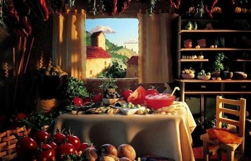 Пейзажи из еды (16 работ)