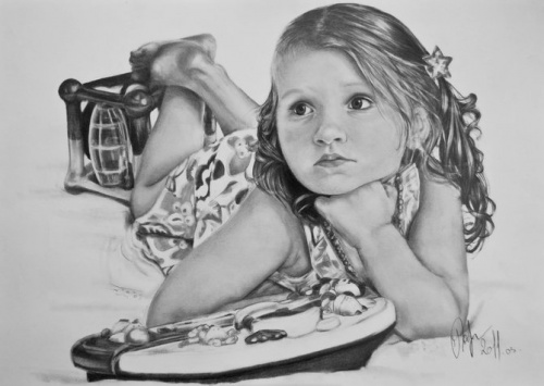 Beautiful Pencil Drawings of Women (13 фото)
