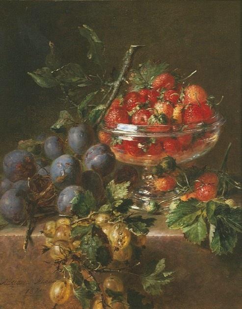 Мастер натюрморта Adriana-Johanna Haanen (Dutch Painter, 1814-1895) (50 работ)