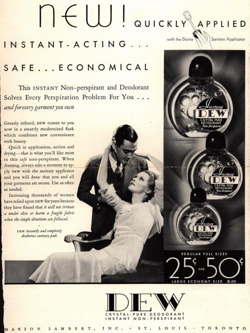 Реклама дезодорантов 1925-1952 (41 фото)