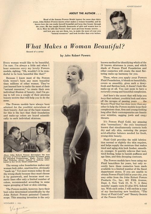 Реклама косметики. 1950-е (34 фото)