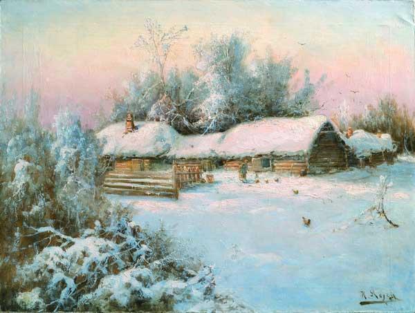 В зимнем дворе 1930 е гг