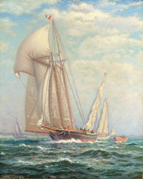 Художник-маринист James Gale Tyler (American, 1855-1931) (59 работ)