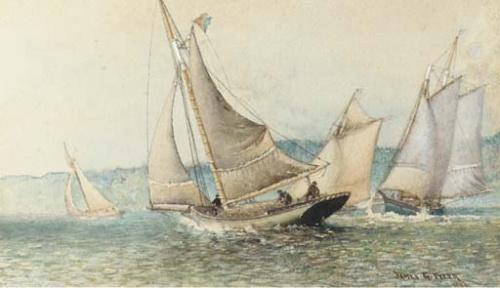 Художник-маринист James Gale Tyler (American, 1855-1931) (59 работ)