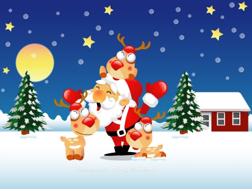 Christmas Vector Cartoon Wallpapers (16 фото)