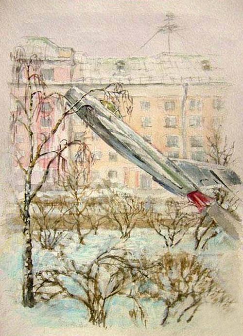 Художник Алена Рыбина-Егорова. Графика (45 работ)