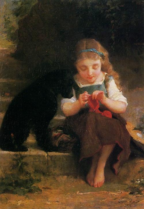 Французский художник Emile Munier (1840-1895) (94 работ)