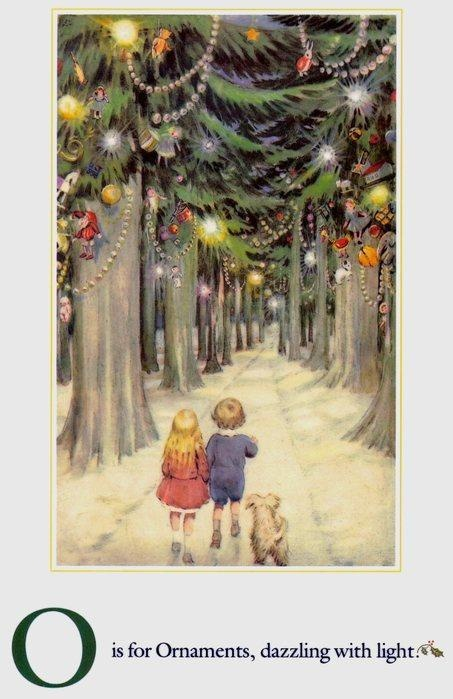 Винтажные открытки с английским алфавитом (25 открыток)