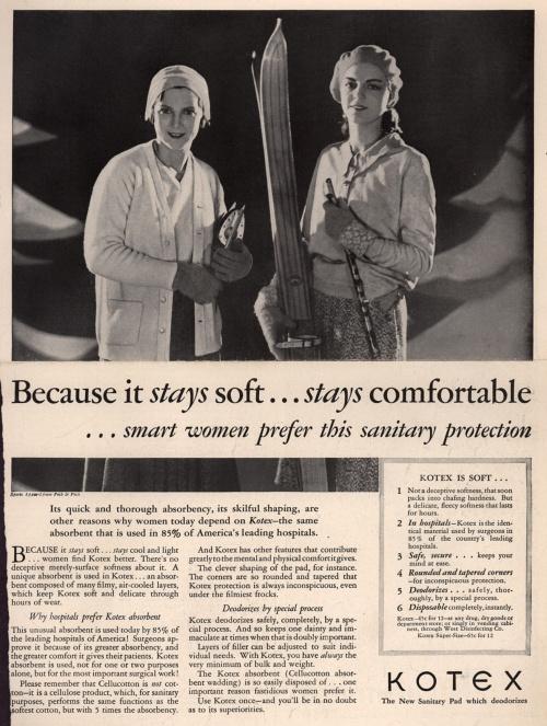 Реклама средств для женской гигиены 1930-е (68 фото)