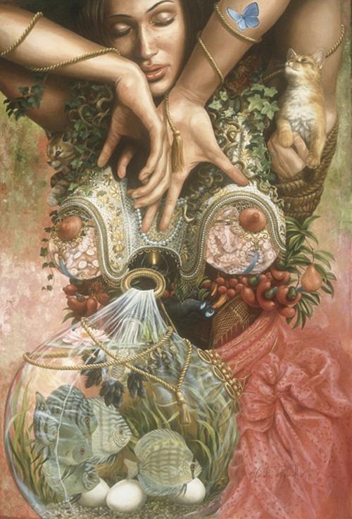 Сюрреалистическая живопись Heidi Taillefer (115 работ)