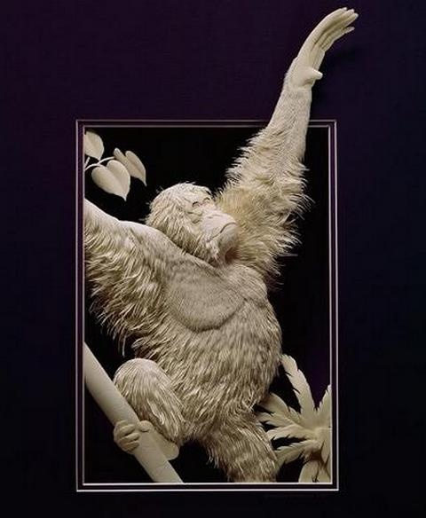 Бумажный зоопарк от Calvin Nicholls (40 фото)