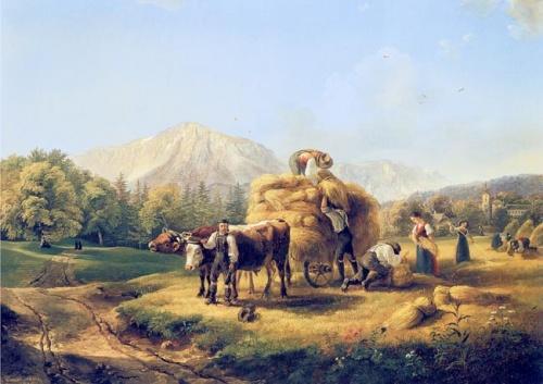 Friedrich Gauermann  (1807-1862) (41 работ)