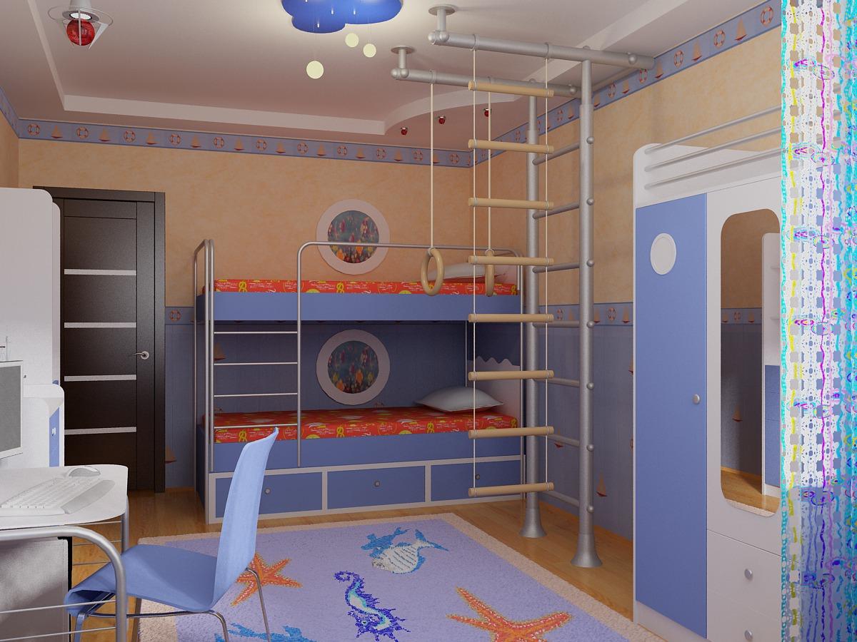 Комната для двух мальчиков фото