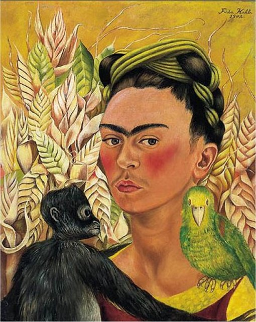a portrait of frida kahlo Kahlo worked on this portrait during the first years of their marriage she shows both of them face forward with serious expressions, but holding hands as a symbol of the great love they feel for each other.
