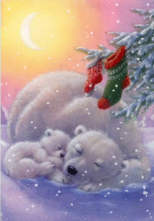 Открытки к Новому году (75 открыток)
