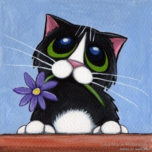 Милые кошки от Лизы Мари Робинсон (28 работ)