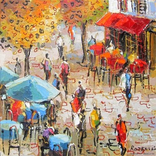 Красочные городские пейзажи Майкла Розенвейна (40 работ)