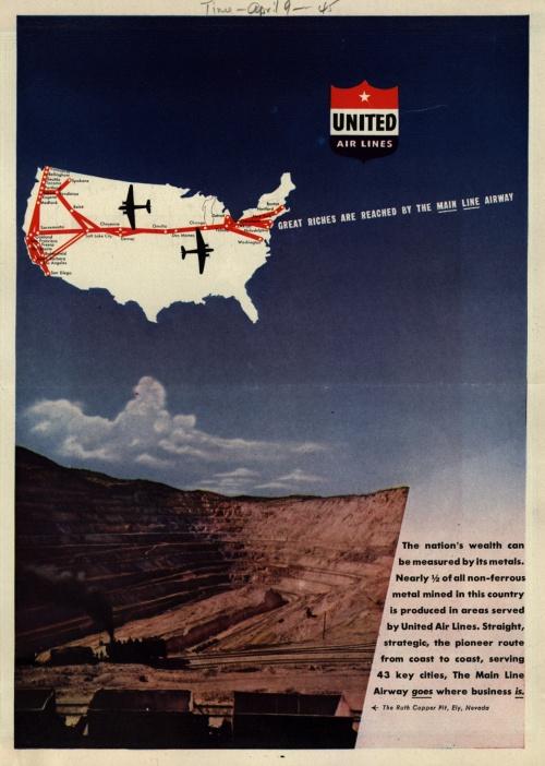 История рекламы. Часть 7. United Air Lines (96 работ)