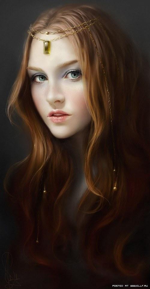 Нарисованные девушки (125 работ)