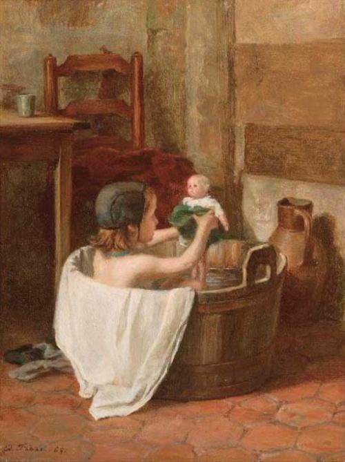 Водные процедуры в живописи (40 работ)