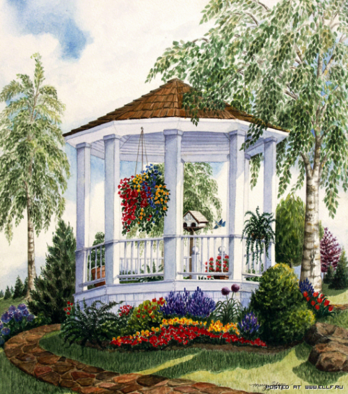 Солнечная акварель Мэри Ирвин (22 работ)