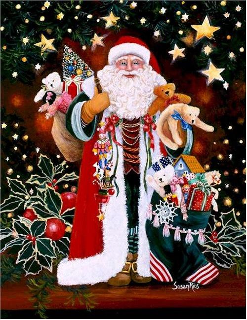 Новый год и Рождество в живописи (55 работ)