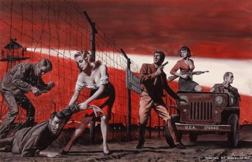 Военное настроение художника Морта Кунстлера (26 работ)