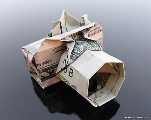 Оригами из денег (35 фото)