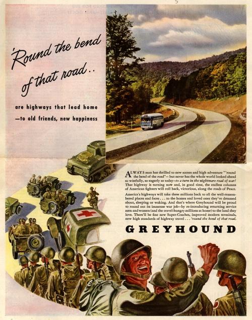 История рекламы. Часть 9. Greyhound (89 фото)