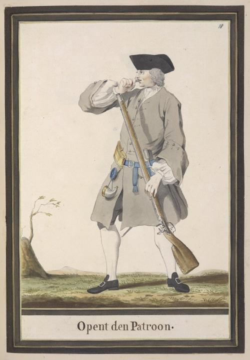 Голландский военный костюм 18-го века. Акварельные рисунки неизвестного автора (62 фото)