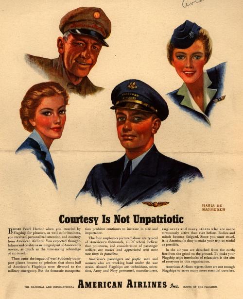 История рекламы. Часть 5. American Airlines (1943-1954) (133 фото)